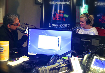Inside the SiriusXM studio at Rockefeller Plaza recording with Jenny McCarthy & Deepak Chopra.