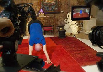 "Eddie showcasing the perfect ""Downward Dog"" on Ashtanga Yoga Primary Series."